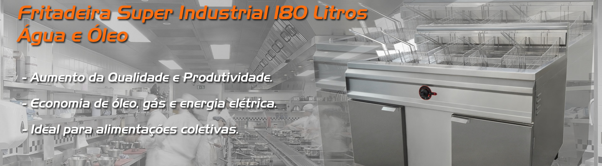 Fritadeira Água e Óleo Super Industrial 180 litros
